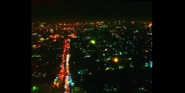 من الجو احتفالات بغداد بالعام الجديد