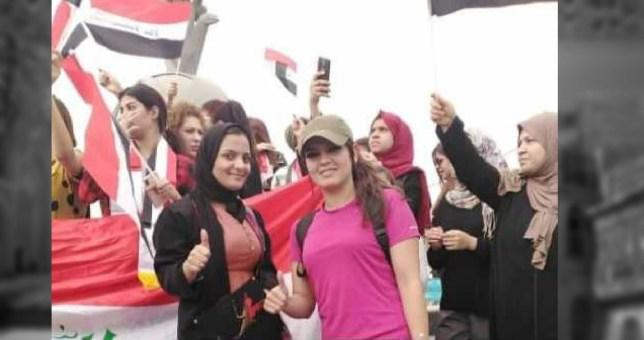 المرأة العراقية ودورها اللوجستي في المظاهرات