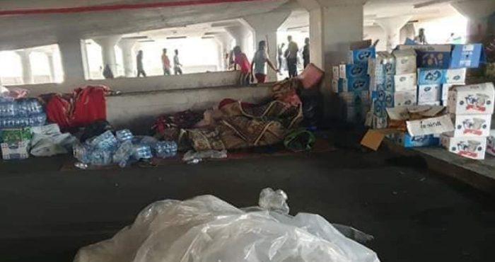 وصول مساعدات الى جبل شهداء التحرير