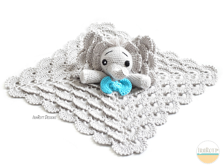 Josefina and Jeffery Elephant Security Blanket PDF Crochet