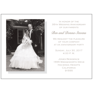 35th Wedding Anniversary Party Invitation with Photo