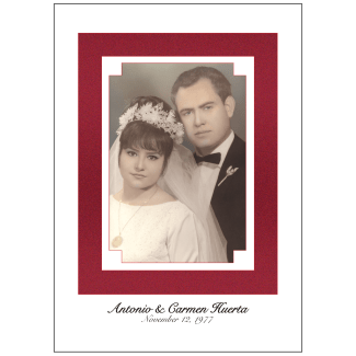 Cover of 40th Wedding Anniversary Party Invitation with Photo