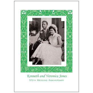 Cover of 55th Wedding Anniversary Party Invitation with Photo