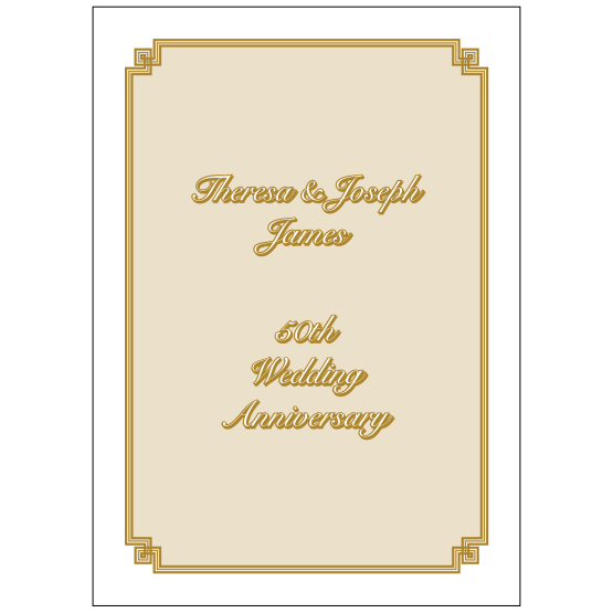 Cover of 50th Wedding Anniversary Party Invitation