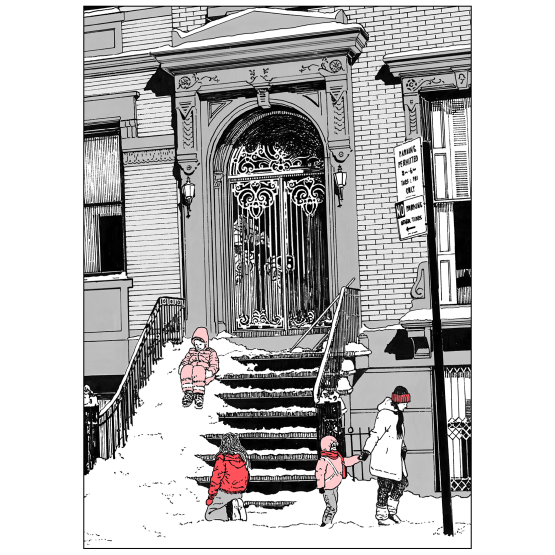 Cover of Christmas Holiday Card Brownstone Winter III