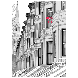 Cover of Christmas Holiday Card Brownstone Winter VII