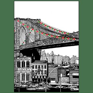 Cover of Christmas Holiday Card - Brooklyn Bridge