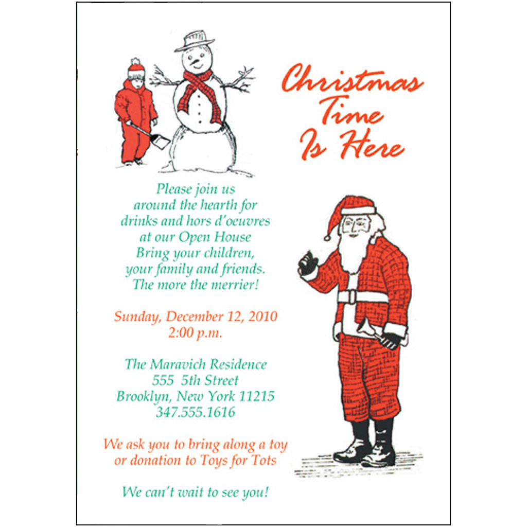 Christmas Party Invitation Template Style Cpit 03