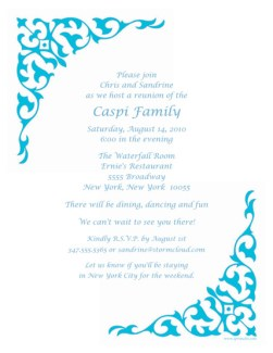 Family Reunion Letter Template, frt-07
