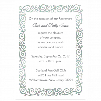 Retirement Party Invitation, Style RPI-04