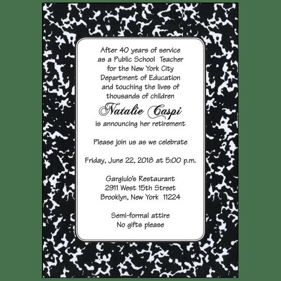 Retirement Party Invitation for Teachers