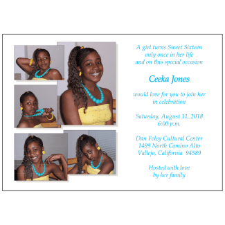 Sweet 16 Invitation with Photos