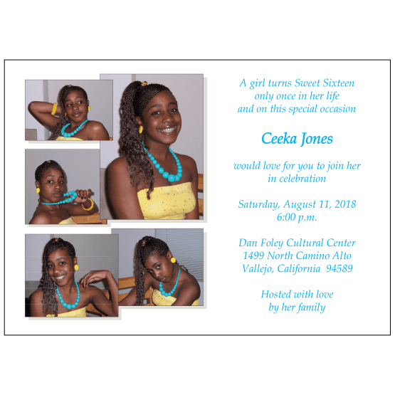 Sweet 16 Invitation with Photos