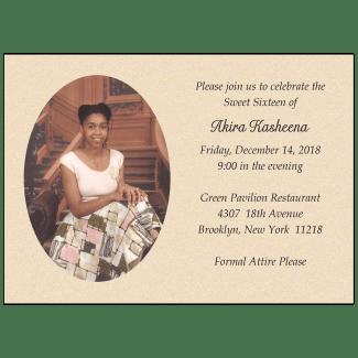 Sweet 16 Invitation with Photo