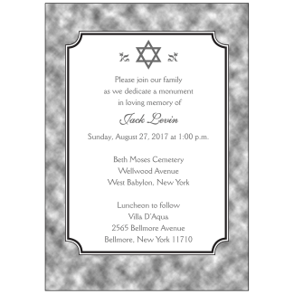 Unveiling Ceremony Invitation