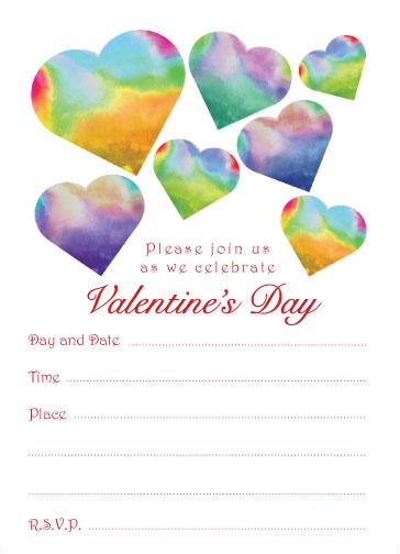 Valentine's Day Party Invitation - Lola Hearts - Fill in