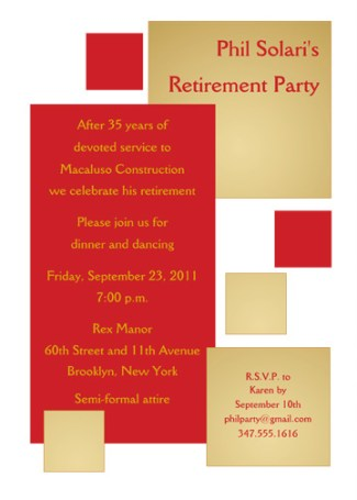 Retirement Party Invitation Template - RPIT-18_5x7
