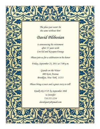 Retirement Party Invitation Template - RPIT-21