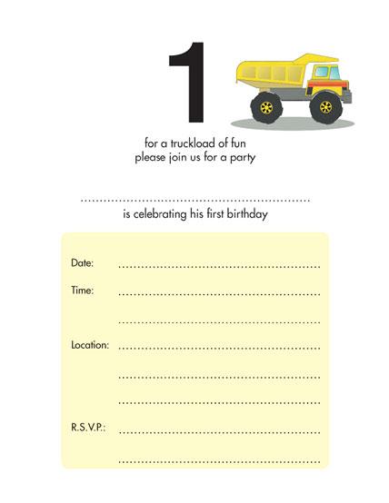 Children's Birthday Party Invitation - KBIF-11