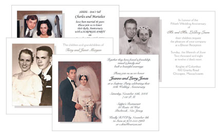 Anniversary Party Invitations with Photos