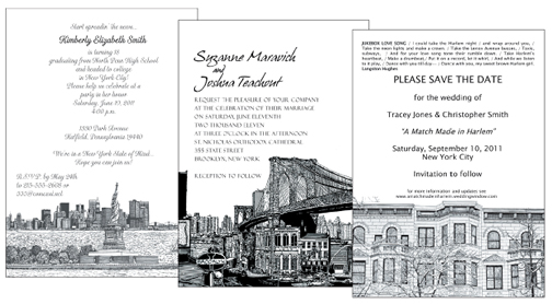 New York Theme Party Invitations