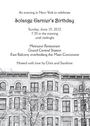New York Theme Invitation