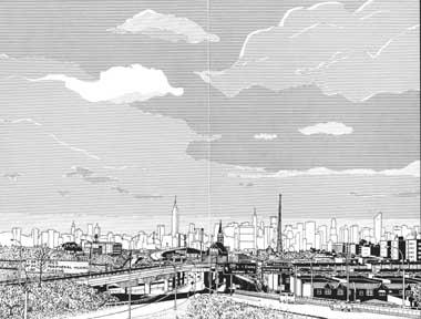 Queens view of New York Skyline