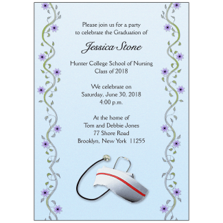 Graduation Party Invitation - Nursing School