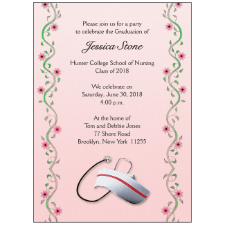 Graduation ipv studio graduation party invitation nursing school stopboris