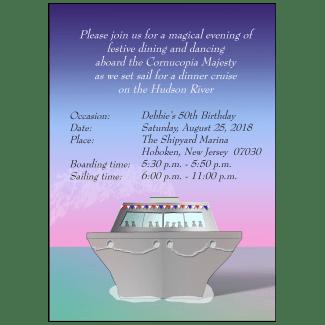 Cruise Party Invitation