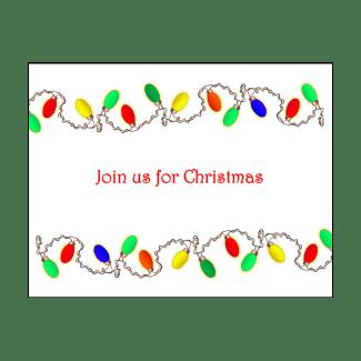 Christmas Holiday Fill-in Invitation