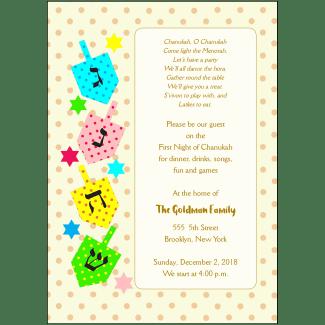 Hanukkah Party Invitation