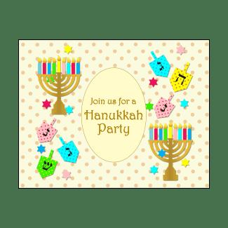 Hanukkah Party Fill-in Invitation