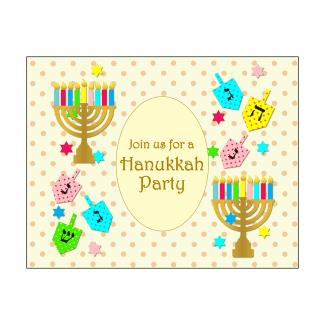 Hanukkah Party Fill-in Invitation