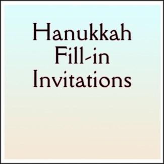Hanukkah Fill-in Invitations