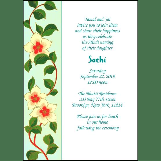 Namkaran Hindi Baby Naming Invitation
