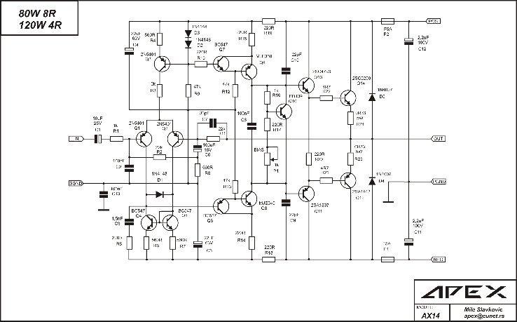 Power Amp. APEX AX14 (modif)