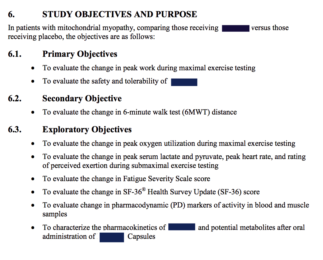 Objectives For A Clinical Trial Image