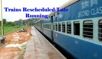 indian railway rescheduled trains on 22nd May 2015