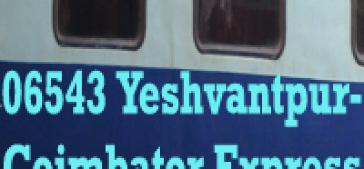 New Train 06543 Yeshvantpur-Coimbator Express Special