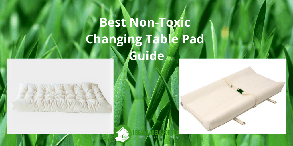 Best Non-Toxic Changing Table Pad Guide. A photo of two non-toxic changing pad options.