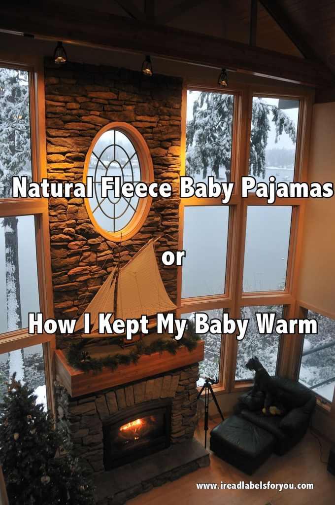 Natural Fleece Baby Pajamas Organic