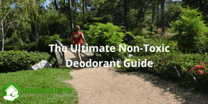 The Ultimate Non-Toxic Deodorant Guide. A photo of an athlete running in a park.