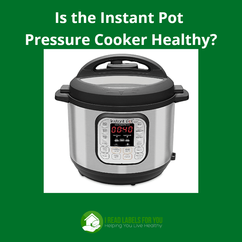 Instant Pot pressure cooker. A photo of an Instant Pot pressure cooker.