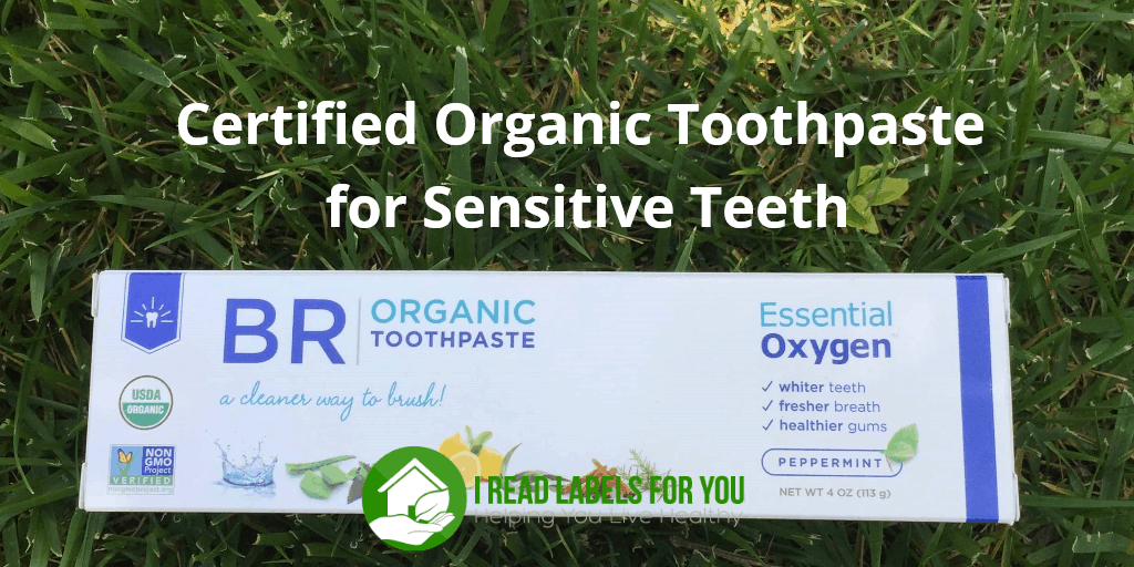 Certified Organic Toothpaste for Sensitive Teeth. A photo of Essential Oxygen toothpaste.