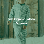 Best Organic Cotton Pajamas. A photo of a smiling boy wearing organic cotton pajamas.