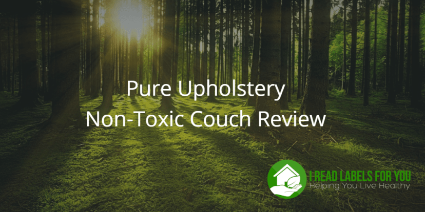 Pure Upholstery Non-Toxic Couch Review