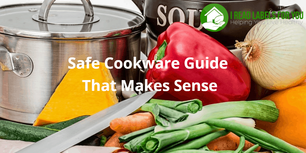 Safe Cookware Guide That Makes Sense. A photo of a stainless steel pan, a knife, and vegetables.