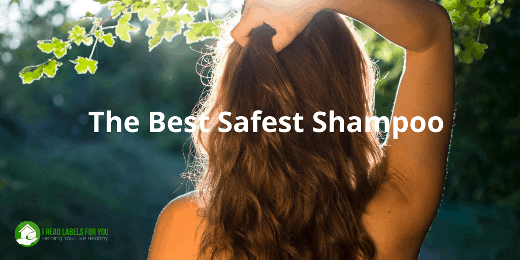 The Best Safest Shampoo. A photo of a woman with hair washed with a healthy shampoo.