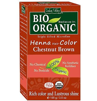 Bio Organic Henna Hair Color Chestnut Brown